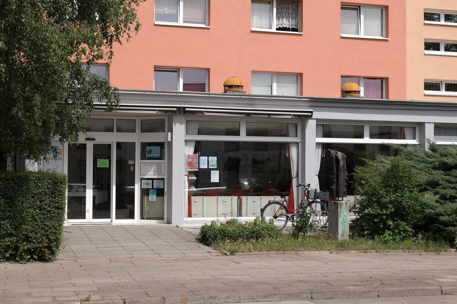 Eingang zum Stadtteilzentrum