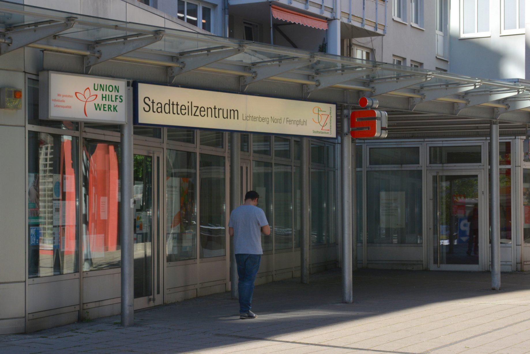 Eingang zum Stadtteilzentrum Fennpfuhl