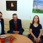 Bürgermeister M. Grunst am Tisch mit P. Wagenknecht und A. Klawitter